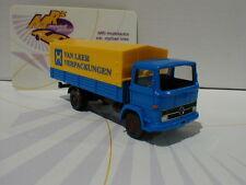 "Wiking 0437 01 # MB 1317 Pritschen-Lkw Baujahr 1979 "" Van Leer"" blau-gelb 1:87"