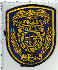 Rock Springs Police (Wyoming) 2nd Issue Uniform Take-Off Shoulder Patch