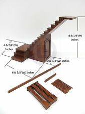 1:12 Scale Miniature Right Landing Staircase With Stock Room For Doll House [WN]