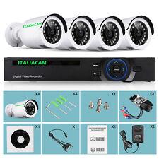 Kit Videosorveglianza DVR 4 Canali 3000  + 4 SONY 3000 + HD SATA +4 CAVI + ALIM