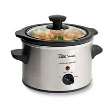 Electric Slow Cooker 1.5 Qt. Stainless Steel Cookers Small Kitchen Appliances