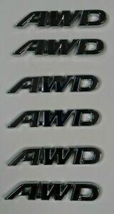 AWD Logo Emblem All-Wheel Drive Badge 3D chrome Sticker SUV AWD toyota SUV truck