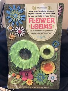 Great Vintage 1967 Flower Looms Yarn Swistraw Crafts Studio Twelve NOS