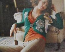 RARE Anthropologie 2002 Autumn Harvest Cardigan Angora Sweater Jacket 4 6 S