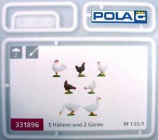 Pola 331896 G - 5 Hühner und 2 Gänse NEU & OvP
