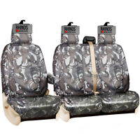 FORD TRANSIT CUSTOM 2021 - HEAVY DUTY GREY CAMOUFLAGE TAILORED VAN SEAT COVERS