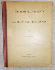 1886 DER TEMPEL DER VESTA UND DAS HAUS DER VESTALINNEN VON H. JORDAN RARE