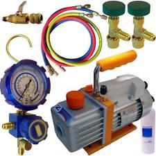 Kit pompe a vide de frigoriste,tirage au vide et recharge de climatisation R410A