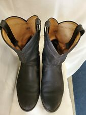 MENS ARIAT HERITAGE BLACK LEATHER WESTERN ROPER BOOTS ROUND TOE 9EE WIDE