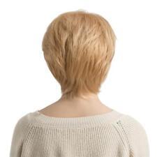 """10"""" Perruque Femme Courte Blonde Naturelle Droit en Couches 100% en Vrais"""