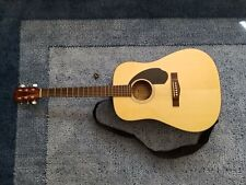 Fender Cd-60S Dreadnought Acoustic Guitar, Natural w/ Strap, Strings, and Pick