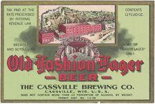 Old Fashion Lager Beer Irtp Label