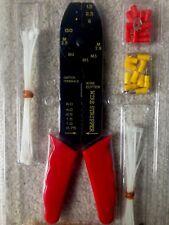Kit de herramientas electricistas arrugador Eléctrico Terminal Juego Prensar Cortador de alambre
