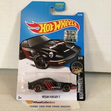 Nissan Fairlady Z #357 * Black * 2017 Hot Wheels FACTORY SET * WG8