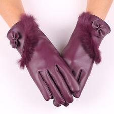 1 PC Women Touch Screen Black Leather Gloves Winter Autumn Warm Mittens Sale