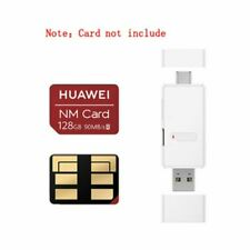 2 in 1 Card SD/NM Nano Card Type-A & Type C Dual USB Ports Memory Card Reader