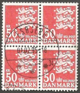 AOP Denmark #720A 1982-85 50Kr very fine used SON block of 4