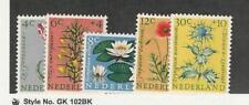 Netherlands, Postage Stamp, #B343-B347 Mint LH, 1960 Flowers, JFZ