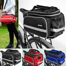 UK Waterproof 25L Bike Pannier Rear Bag MTB Bike Rack Road Bicycle Seat Trunk
