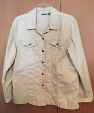 Chicos jacket SZ 3 Long  sleeve beige with front buttons