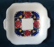 ART DECO WILLIAM ADAMS ROYAL IVORY TITIAN WARE BROCADE HAND PAINTED SERVING DISH