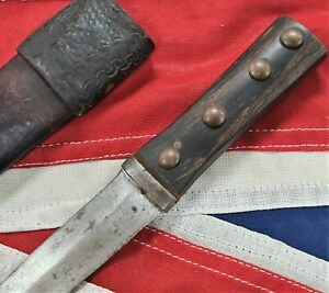 WW1 British English Knife Stiletto Fighting Knife Dagger & Sheath Scottish Dirk