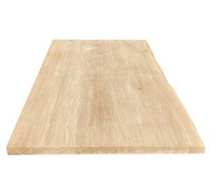 Holzplatte Tischplatte Eichenplatte Massivholz Eiche Tisch massiv Baumkante 4cm