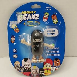 """New Mighty Beanz BendEms Series 2 Ninja Collect Spin Master Toy 3"""" Rare"""