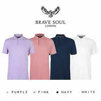 Brave Soul Mens Polo Short Sleeve Plain Fyodor