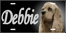 Engraved - Personalized Cocker Spaniel License Plate - Auto Tag