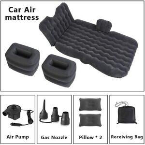Premium Auto Back Seat Inflatable Mattress, 2 Air Pillows, 2 Air Piers, Black