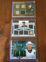 Mario Lemieux Leaf In The Game Used Lot (x3) Patch HOF Pittsburgh Penguins 1/1