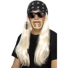 Blonde Hard Rocker Kit Adult Biker Wig Beard Bandana Glasses Fancy Dress Accesso