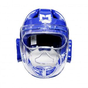 Moospo Taekwondo Face Covered Dipping Headgear Head & Facial Protector TKD Guard