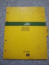 John Deere 105/6602/7700 Combine G Engine Parts Catalog