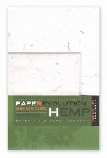 PAPER EVOLUTION Note Set - HEMP THREAD, NATURAL - 5 A2 notecards and envelopes
