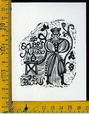 Ex Libris Originale Alexandro Radulescu c 084