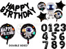 "16"" Happy Birthday 18"" inch Space Astronaut  Black Balloons Birthday Decorations"