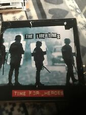 "THE LIBERTINES Time For Heroes 7"" Black Vinyl Picture Sleeve MINT Pete Doherty"