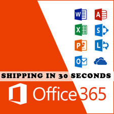 Microsoft Office 365-2016 PRO PLUS Lifetime- Shipping 30 Sec - license 5 devices