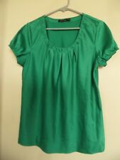 WOMEN'S THE LIMITED GREEN SCOOP NECK  TOP SHIRT BLOUSE  SIZE L