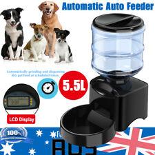 5.5l Automatic Program Digital Pet Cat Dog Auto Feeder Food Bowl Dispenser LCD