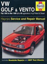 VW Golf & Vento Petrol & Diesel (Feb 92 - Mar 98) Haynes Repair Manual: Petrol,