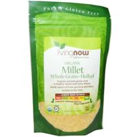 LIVING NOW ORGANIC MILLET, WHOLE GRAIN HULLED, PROTEIN,VEGAN, GLUTEN FREE, 454GM