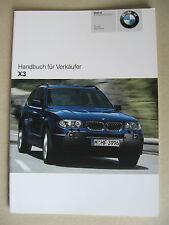 VENDEUR MANUEL BMW X5 E83 2.5i 3.0i 3.0d Modèle 2004
