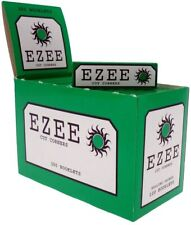 Full Box of Ezee Green Rolling Cigarette Papers Standard Size Cut Corner