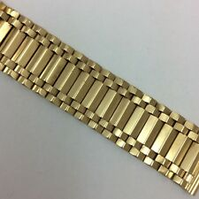 14K YELLOW GOLD MENS OR LADIES WATCH BAND 16MM