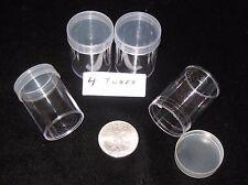 Harris/Whitman Coin Tubes - US Silver American Eagle Size  (4 tubes)