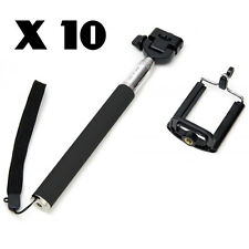BUNDLE X10 SELFIE STICK MOBILE IPHONE SMART PHONE SAMSUNG 6 5 CAMERA JOBLOT