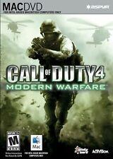 Call of Duty 4 Modern Warfare MAC DVD Video Game Sealed (Mac 2008)